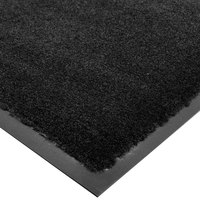 Cactus Mat 1438M-C31 Tuf Plush 3' x 10' Olefin Carpet Entrance Floor Mat - Black