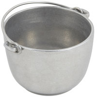 Bon Chef 3026 1 Qt. Pewter-Glo Cast Aluminum Tureen with Bail Handle