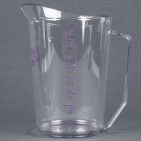 Cambro 400MCCW441 Camwear 4 qt. Allergen Free Purple Measuring Cup