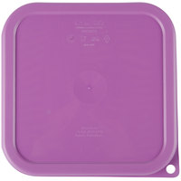 Cambro SFC2SCPP441 CamSquare Purple Lid for 2-4 qt. Food Storage Containers