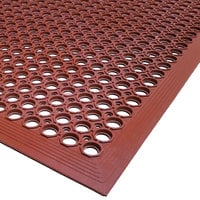 Cactus Mat 2530-R15 VIP TopDek Junior 3' x 14' 8 inch Red Grease-Resistant Anti-Fatigue Floor Mat - 1/2 inch Thick
