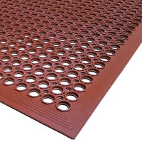 Cactus Mat 2522-R10 VIP TopDek Senior 3' x 9' 10 inch Red Heavy-Duty Grease-Resistant Anti-Fatigue Floor Mat - 1/2 inch Thick