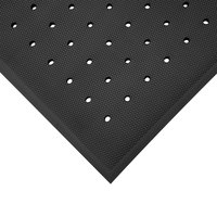Cactus Mat 2200-35H VIP Black Cloud 3' x 5' Black Rubber Floor Mat with Drainage Holes - 3/4 inch Thick