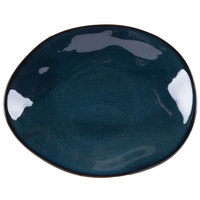 Tuxton GAN-652 Artisan Night Sky 9 3/4 inch x 12 inch Ellipse China Plate - 12 / Case