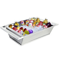 Eastern Tabletop 9050 Two Tone Stainless Steel Double Wall Beverage Tub - 18 1/2 inch x 16 1/2 inch x 6 inch
