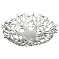 Eastern Tabletop 9445 12 inch Cast Aluminum Branch Bread Tray