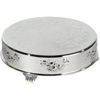 Eastern Tabletop 8008L 14 inch Round Silver Plated Cake Riser