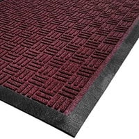 Cactus Mat 1426M-R31 Water Well II 3' x 10' Parquet Carpet Mat - Burgundy