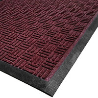 Cactus Mat 1426M-R46 Water Well II 4' x 6' Parquet Carpet Mat - Burgundy
