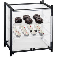 Cal-Mil 1143-S-13 One By One Three Tier Black Display Case with Front Doors - 16 1/2 inch x 14 inch x 22 inch