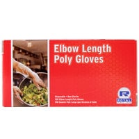 21 1/2 inch Elbow Length Poly Glove 100/Box