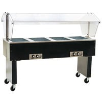 Eagle Group BPDHT4 Four Pan Deluxe Service Mates Portable Hot Food Buffet Table with Open Base