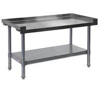 APW Wyott HDS-48L 48 inch x 30 inch Heavy Duty Cookline Equipment Stand with Galvanized Undershelf