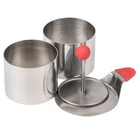Ateco 4950 2 3/4'' 4-Piece Round Food Molding Set (August Thomsen)
