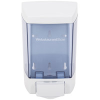 46 oz. White Bulk Soap, Sanitizer, and Lotion Dispenser (IMP 9346) - 5 1/2 inch x 4 1/4 inch x 8 1/2 inch