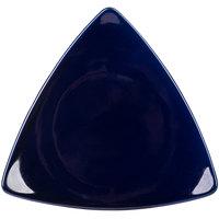 CAC TRG-21BLU Festiware Triangle Flat Plate 11 1/2 inch - Blue - 12/Case