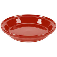 Homer Laughlin 487326 Fiesta Scarlet 10 1/4 inch Deep Dish Pie Baker - 4 / Case