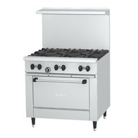 Garland SunFire Series X36-6R Natural Gas 6 Burner 36 inch Gas Range with Standard Oven - 213,000 BTU