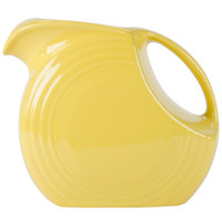 Homer Laughlin 484320 Fiesta Sunflower 2.1 Qt. Large Disc Pitcher - 2/Case