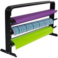 Bulman T324-24 24 inch Horizontal Black Countertop 3 Roll Paper Cutter Rack
