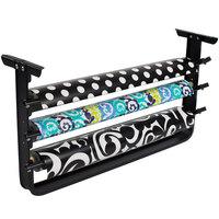 Bulman T324-40 40 inch Horizontal Black Undercounter 3 Roll Paper Cutter Rack