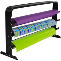 Bulman T324-30 30 inch Horizontal Black Countertop 3 Roll Paper Cutter Rack