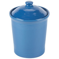Homer Laughlin 573337 Fiesta Lapis Large 3 Qt. Canister with Cover - 2/Case