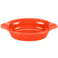 Homer Laughlin 587338 Fiesta Poppy 17 oz. Oval Baker - 4 / Case
