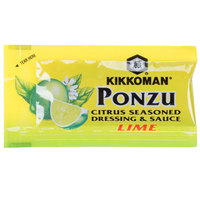 Kikkoman Lime Ponzu Citrus Seasoned Dressing & Sauce - (500) 6 mL Packets / Case