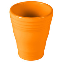 Homer Laughlin 1453325 Fiesta Tangerine 12 oz. Bath Tumbler - 4/Case