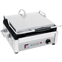 Eurodib SFE02345 14 1/2 inch Single Panini Grill with Grooved Plates - 110V, 1800W