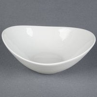 Tuxton BPD-1007 DuraTux 40 oz. Bright White China Capistrano Bowl - 12/Case