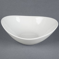 Tuxton BPD-1007 DuraTux 40 oz. Porcelain White China Capistrano Bowl - 12 / Case