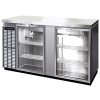 Continental Refrigerator BBC69-SS-GD 69 inch Stainless Steel Glass Door Back Bar Refrigerator