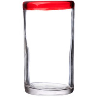 Libbey 92303R Aruba 16 oz. Cooler Glass with Red Rim - 12/Case