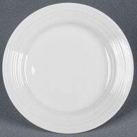 Tuxton FPA-082 Pacifica 8 1/4 inch Porcelain White Embossed China Plate - 24 / Case