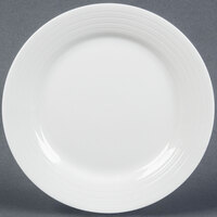Tuxton FPA-116 Pacifica 11 3/4 inch Porcelain White Embossed China Plate - 12 / Case
