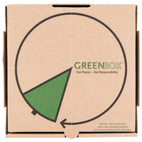 GreenBox 10 inch x 10 inch x 1 3/4 inch Corrugated Recycled Pizza Box with Built-In Plates and Storage Container - 50/Bundle