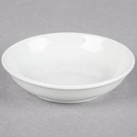 Tuxton FPD-041 Pacifica 3.25 oz. Porcelain White Embossed China Fruit Dish - 36 / Case