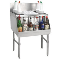 Advance Tabco PRI-19-42-10 Prestige Series Stainless Steel Underbar Ice Bin with 10-Circuit Cold Plate - 20 inch x 42 inch