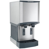 Scotsman HID312A-1 Meridian Countertop Air Cooled Ice Machine and Water Dispenser - 12 lb. Bin Storage