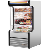 True TAC-14GS-LD 30 inch Stainless Steel Refrigerated Glass Sided Air Curtain Merchandiser - 16.2 Cu. Ft.