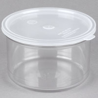 Carlisle 031607 1.5 Qt. Clear Classic Crock with Lid