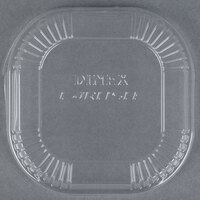 Dinex DX11810174 Disposable Clear Dome Lid for 10 oz. Square Bowl - 1000 / Case