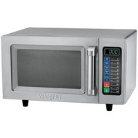 Waring WMO90 Stainless Steel Commercial Microwave with Push Button Controls - 120V, 1000W