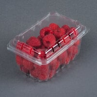 1 Pint Vented Rectangular Clamshell Produce / Berry Container - 640 / Case