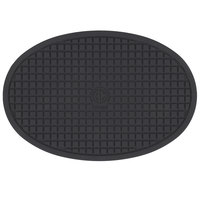 American Metalcraft TRV085 8 3/4 inch x 5 7/8 inch Oval Silicone Trivet