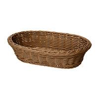 GET WB-1505-H 11 3/4 inch x 8 inch x 3 inch Designer Polyweave Honey Oval Basket - 12 / Case