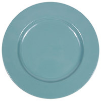 Elite Global Solutions D1025C Cottage Vintage California 10 1/2 inch Cameo Blue Round Rim Melamine Plate