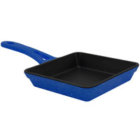 Elite Global Solutions MFP55-BC Base Camp 5 3/8 inch Blue Speckle Faux Cast Iron Skillet